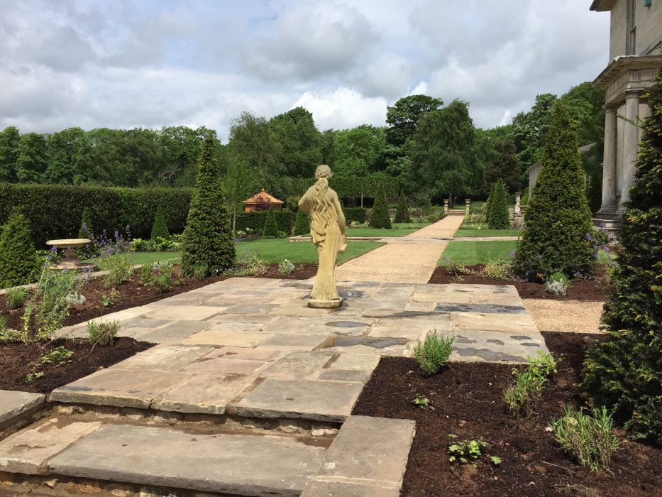 15 new planting gravel path topiary statue welch landscape design